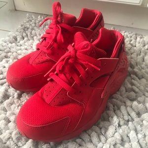 nike air huarache ruby red